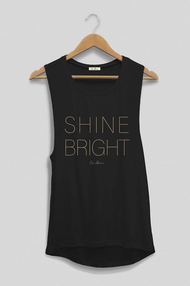EDEN ASHRAM Shine Bright Scoop Muscle Tank