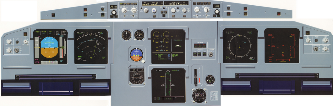 Airbus A320 Instrument Panel - To Scale