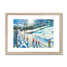 Load image into Gallery viewer, Val d'Isere La Daille Ski Print Framed & Mounted Print