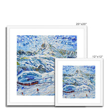 Load image into Gallery viewer, Tracks on the Matterhorn II Framed & Mounted Print