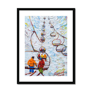 Tignes Chair Lift Ski Print Framed & Mounted Print