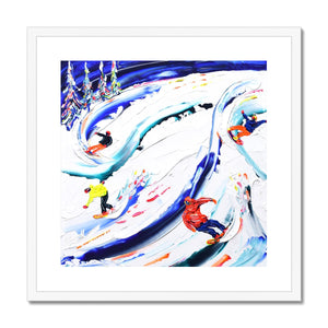 Ripping it up Whistler Style Framed & Mounted Print