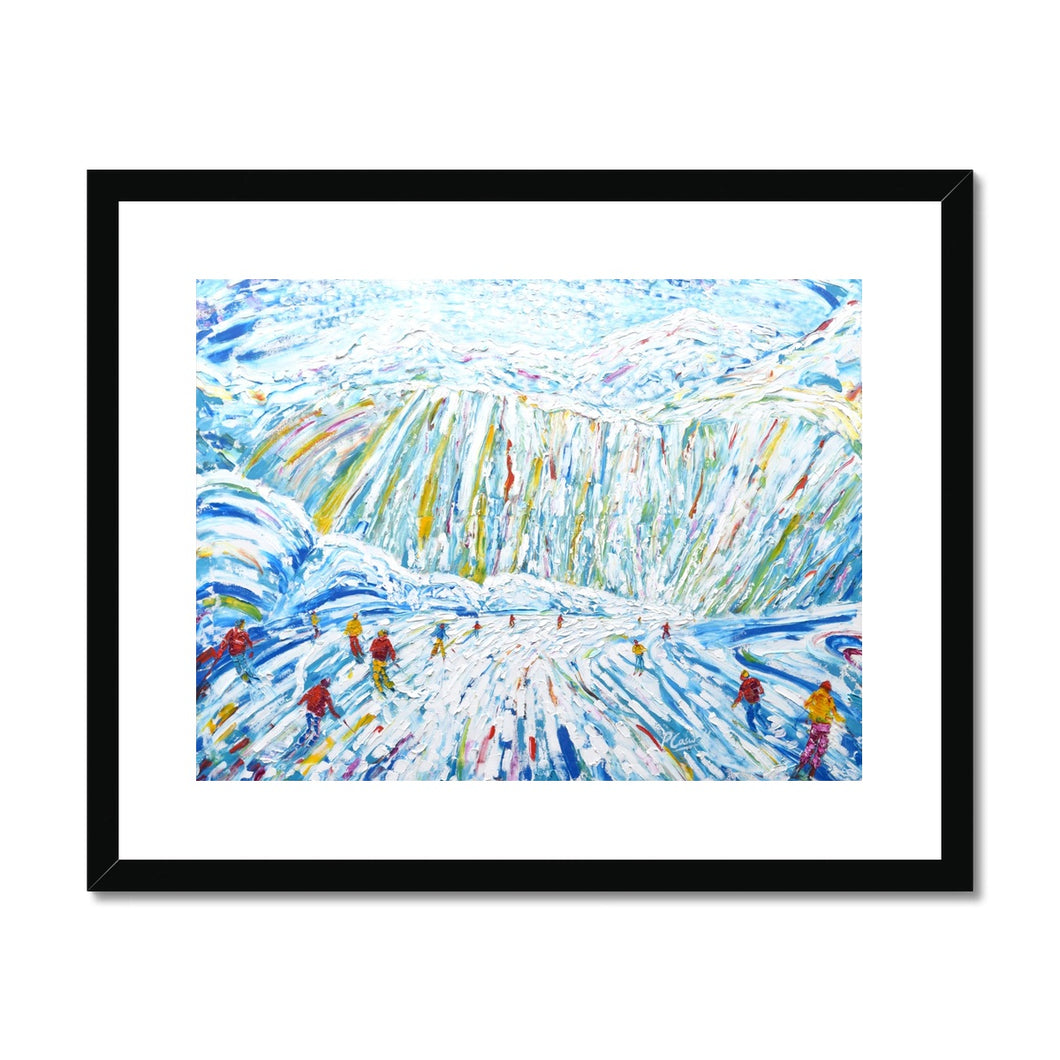 Courchevel Creux Piste Framed & Mounted Print