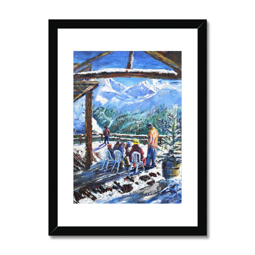 Coffee stop at Val D'Isere Framed & Mounted Print