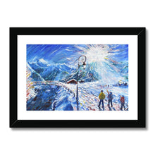 Load image into Gallery viewer, Val d'Isere Skiing Painting La Daille Framed & Mounted Print