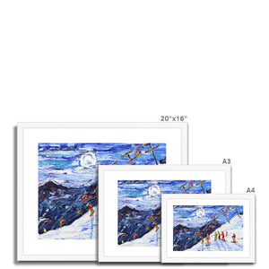 Swiss Wall Avoriaz Morzine Framed & Mounted Print