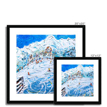 Load image into Gallery viewer, Les Arcs 1800 Mt Blanc Framed & Mounted Print