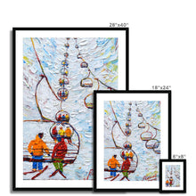 Load image into Gallery viewer, Tignes Chair Lift Ski Print Framed & Mounted Print