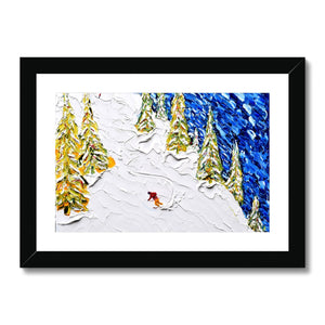 Les Gets Off Piste Framed & Mounted Print