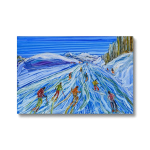 Sculptured Sources La Plagne Canvas