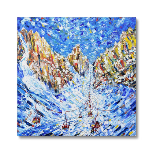Chair to the Mountains Cortina Canvas