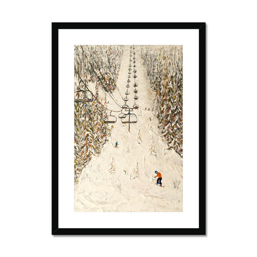 Flaine Grand Massif Ski Print Framed & Mounted Print