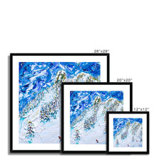 Load image into Gallery viewer, Mt Blanc Chair Les Arcs Framed & Mounted Print