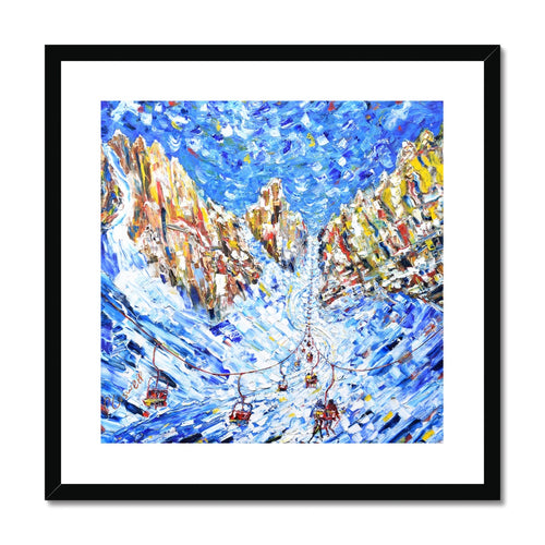 Chair to the Mountains Cortina Framed & Mounted Print