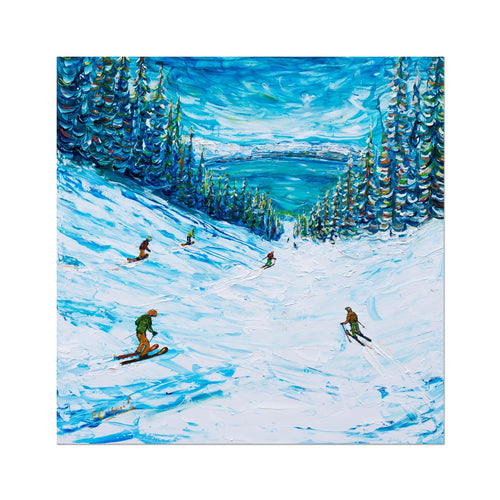 A Lake In Heavenly Called Tahoe Fine Art Print Ski Poster