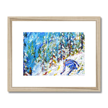 Load image into Gallery viewer, Off Piste Verbier Framed & Mounted Print
