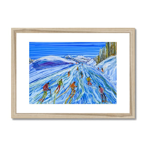 Sculptured Sources La Plagne Framed & Mounted Print
