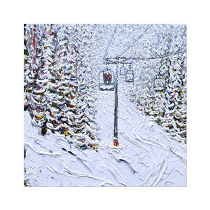 Chair 6 Breckenridge Fine Art Print Ski Poster