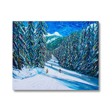 Load image into Gallery viewer, Morzine Ski Print of Choucas Piste Canvas