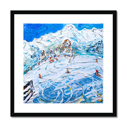 Les Arcs 1800 Mt Blanc Framed & Mounted Print