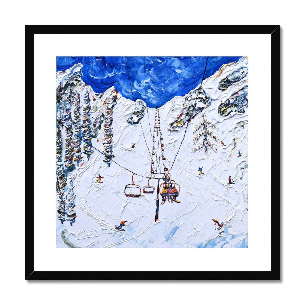 KT-22 Chair Lift Squaw Valley Framed & Mounted Print
