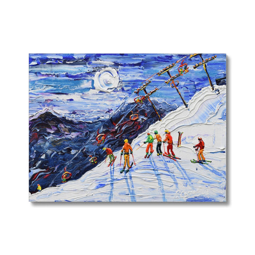 Swiss Wall Avoriaz Morzine Canvas