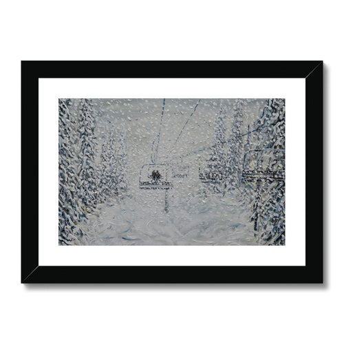 Nothing to See Grand Massif Framed & Mounted Print