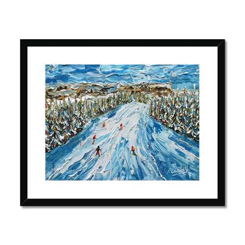 L' Alpette Skiing Framed & Mounted Print