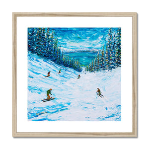 A Lake In Heavenly Called Tahoe Framed & Mounted Print