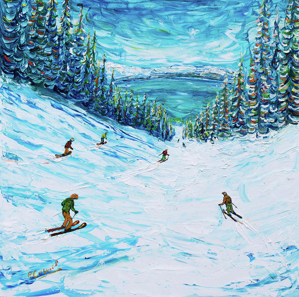 A Lake In Heavenly Called Tahoe - Ski Poster
