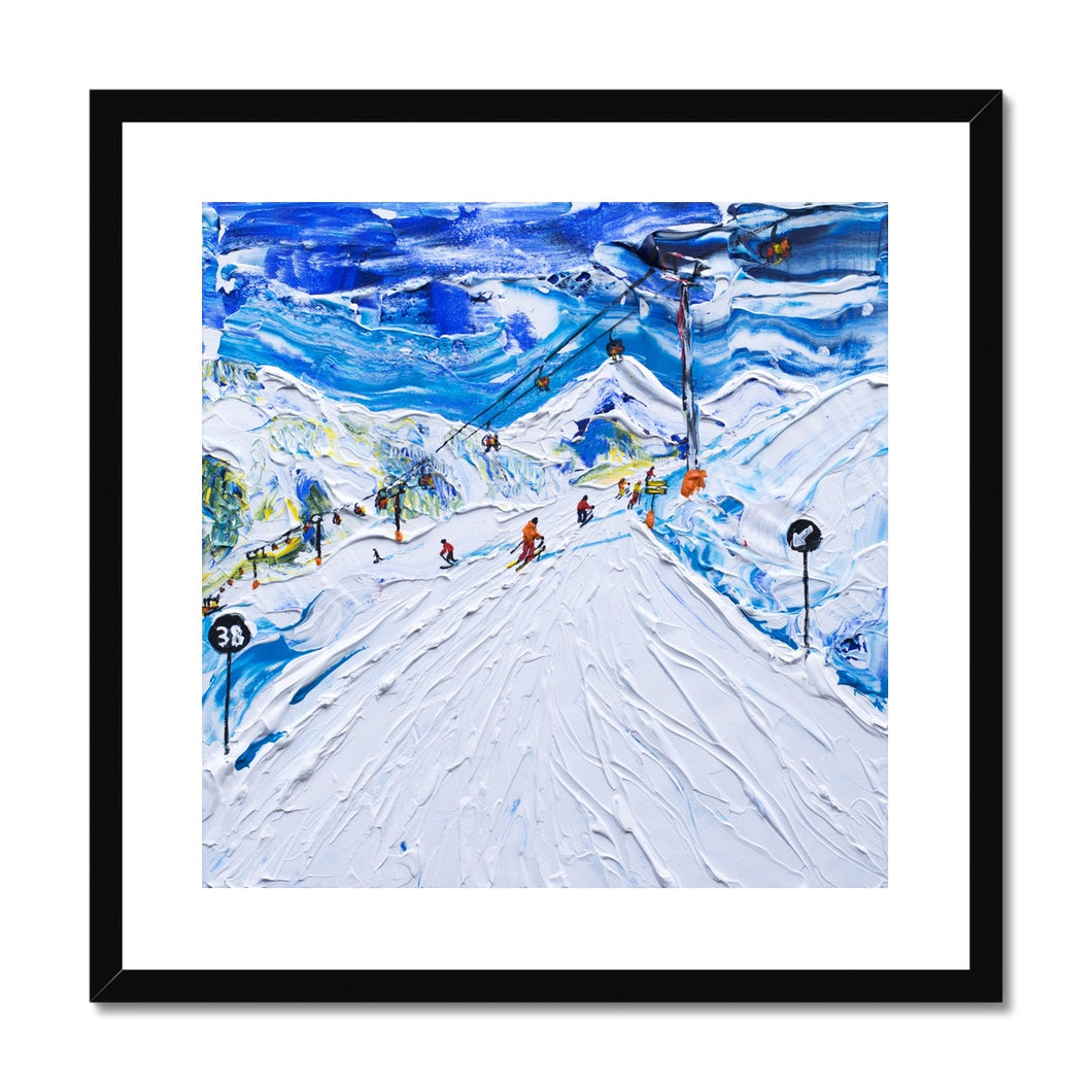 Kitzbuhel Start of Piste 38 Framed & Mounted Print