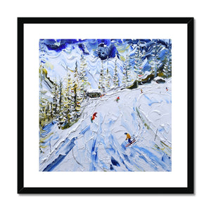 Coffee Stop at Courmayeur Framed & Mounted Print