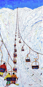 Albonagrat 2 Man Chair Ski Poster