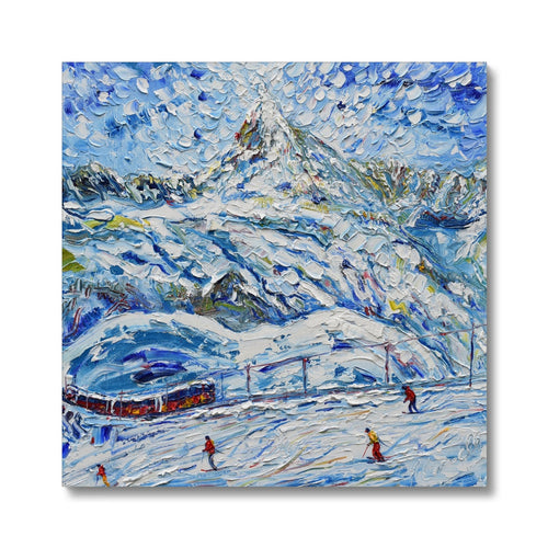 Tracks on the Matterhorn II Canvas