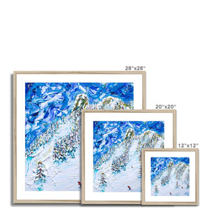 Mt Blanc Chair Les Arcs Framed & Mounted Print