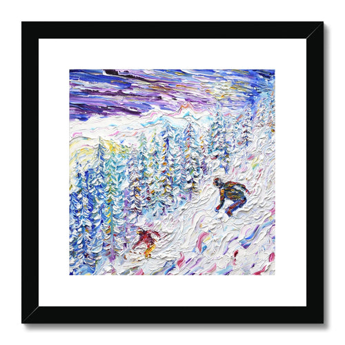 Off Piste Les Arcs 2000 Framed & Mounted Print