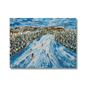 L' Alpette Skiing Canvas