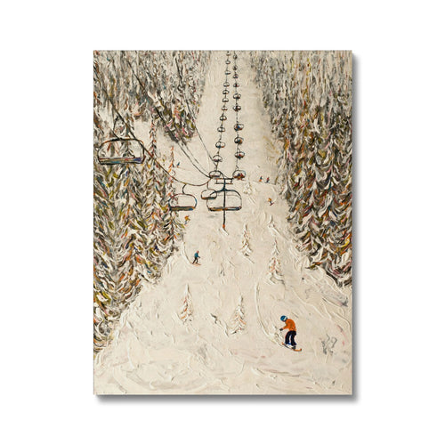 Flaine Grand Massif Ski Print Canvas