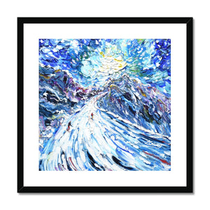 Aiguille Rouge Piste Framed & Mounted Print