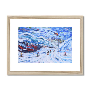 Val Thorens - Funitel Peclet and Stades Chair Framed & Mounted Print