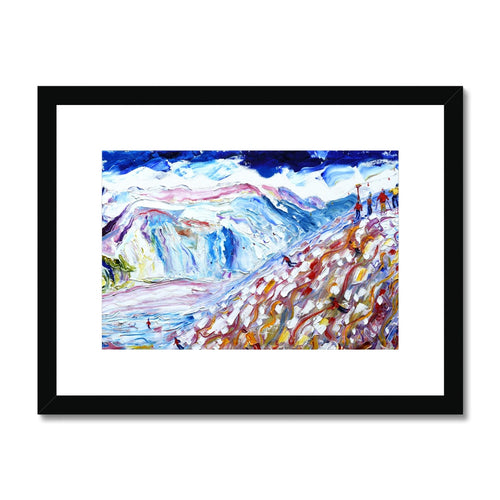 The Face Val D'Isere Framed & Mounted Print