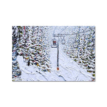 Load image into Gallery viewer, Chair 6 Breckenridge Fine Art Print Ski Poster