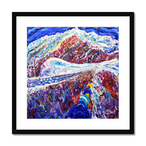 Aiguille Du Midi on Mt Blanc Framed & Mounted Print