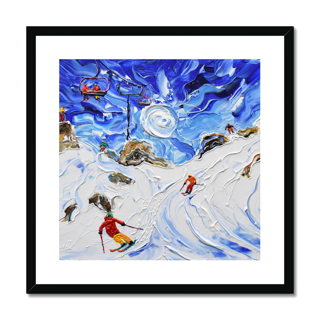 Shreddin Avoriaz Morzine Framed & Mounted Print