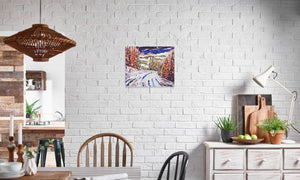DSC_1327 canvas prints in editorial (dining room), wrap: white, size: 16x20""