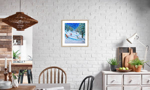 DSC_3662brighter framed & mounted prints in editorial (dining room), natural frame, size: 20x20""