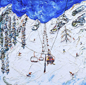 Kt-22 Chair Lift Squaw Valley Ski Poster