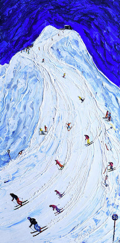 Lech  Piste 200 Or  Piste 34 In Old Numbers - Ski Poster