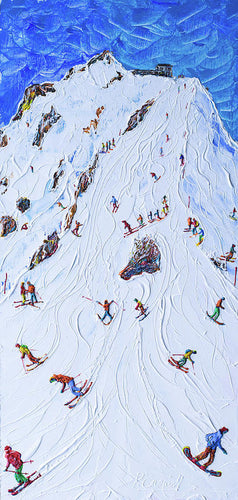 Saliure Meribel And Courchevel Ski Poster