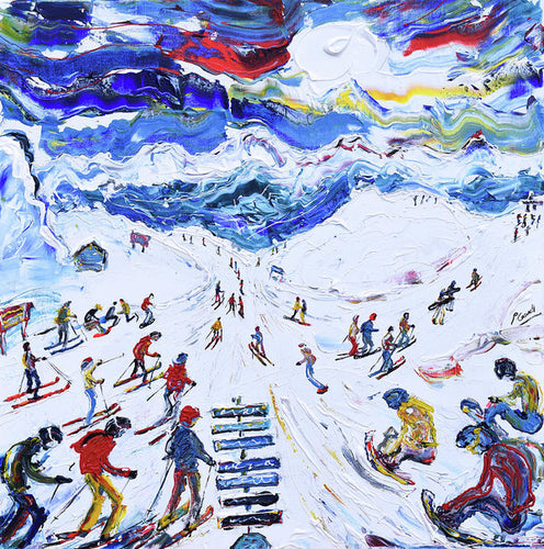 Whistler Ski Print Top Of Peak Express Chair Ski Poster